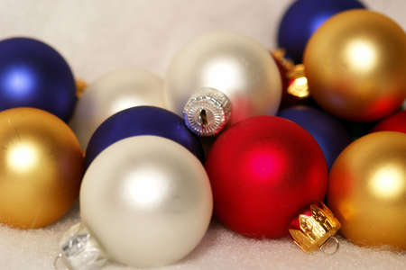 collection of multicolored christmas tree ornaments or balls,