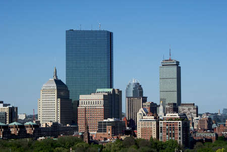 classic image of the boston skyline on a sunny afternoon
