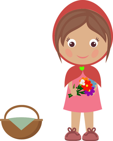 red hat: Girl with a basket