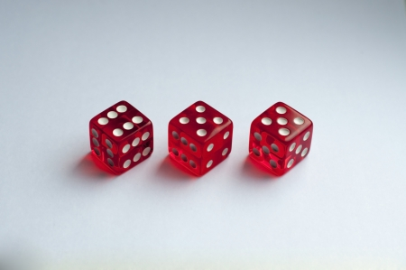 deceive: one normal and 2 trick red dice