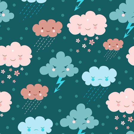weather cartoon: Rainy background.