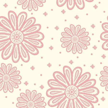 Ornate Snowflake Pattern on Grunge Background. Stock Illustratie