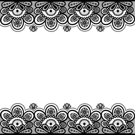 Old lace, vintage background, vector illustration.