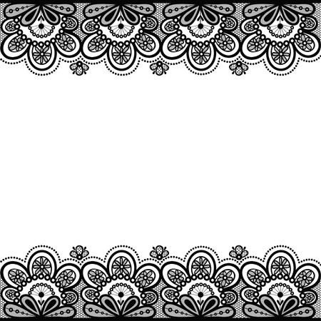 Old lace, vintage background, vector illustration.