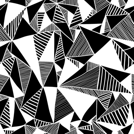 cuadros abstractos: Textura sin fisuras con triángulos, patrón de mosaico sin fin.