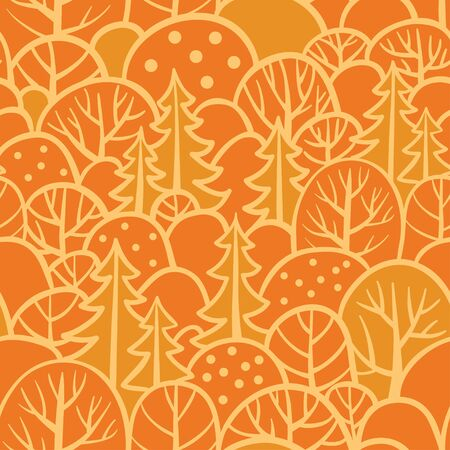 forrest: Seamless autumn background with trees.