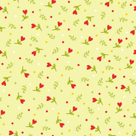 Vector illustration of flowers and leaves. Stock Illustratie