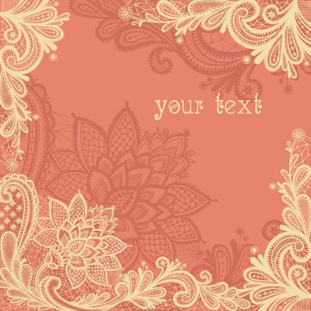La conception de mariage avec de la dentelle dans le style rétro. Banque d'images - 46448917