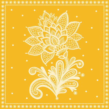 vintage card: Wedding design with lace in retro style.