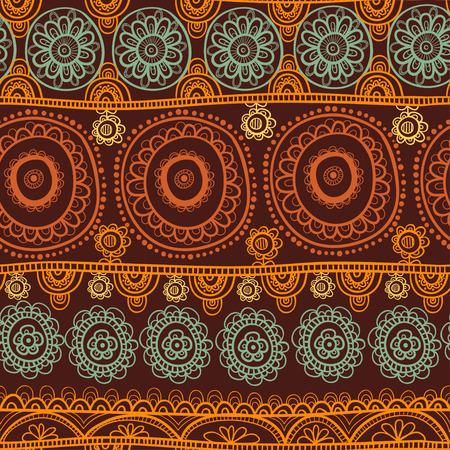 indische muster: Nahtlose Hintergrund Vektor-Illustration der Kreise.