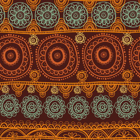 folk art: Seamless background vector illustration of the circles.