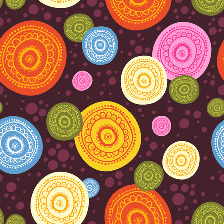 abstract pattern: Seamless background vector illustration of the circles.