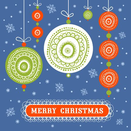 yea: Christmas decorative abstract background with Christmas Toys. Illustration