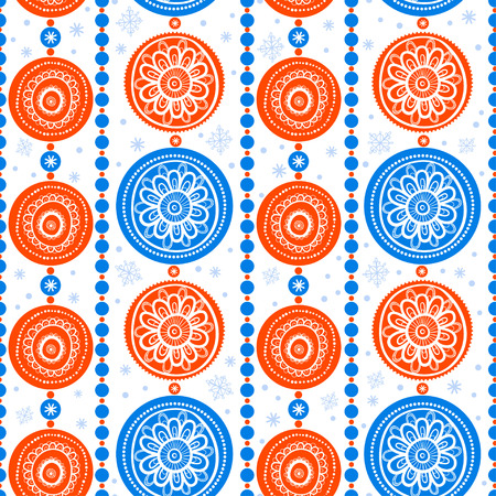 new yea: Seamless abstract background with Christmas decorations.