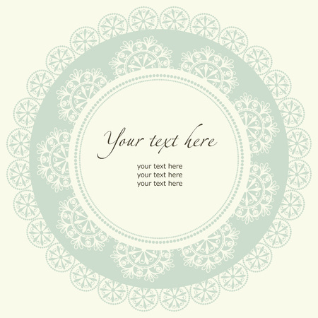 vintage lace: Wedding design with lace in retro style.
