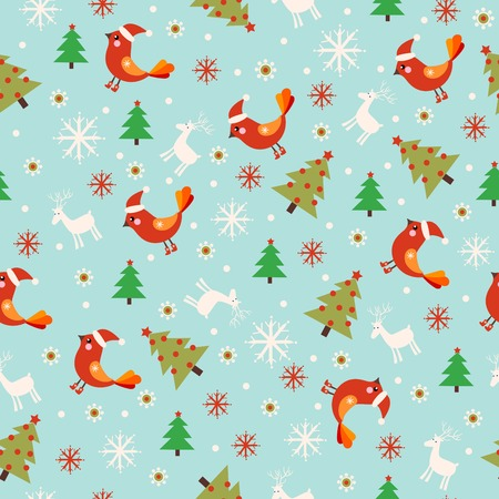 christmas seamless pattern: Seamless Christmas pattern. Seamless pattern with New Year.