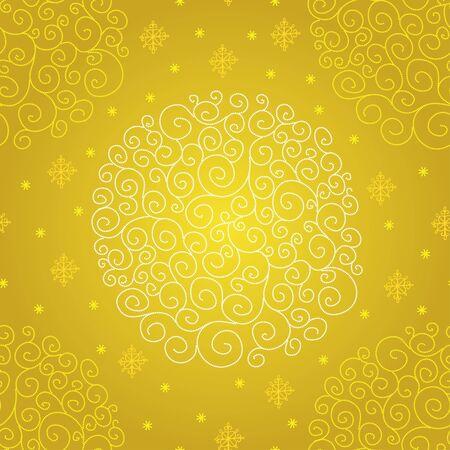 yellow design element: illustration on the Christmas theme. Illustration