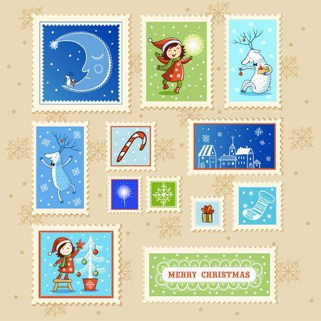 stamp: Collections of Christmas Postmarks.