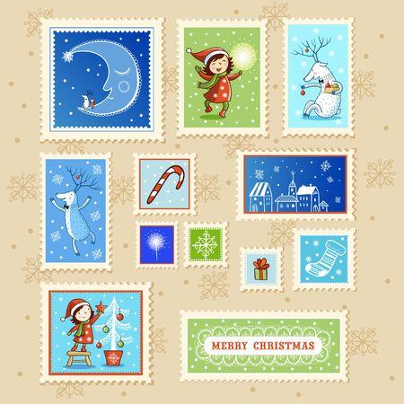 christmas blue: Collections of Christmas Postmarks.