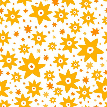 Vector illustration seamless background with stars. Ilustração