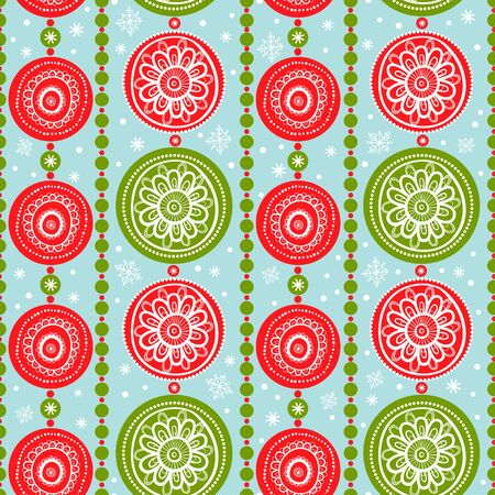 xmas decoration: Pattern with Christmas Garlands. Seamless xmas decoration. Abstract Background.