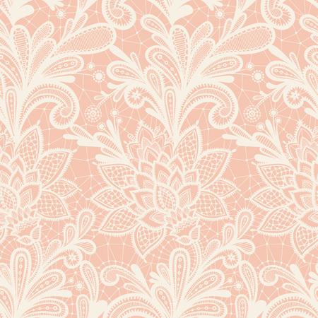 원활한 레이스 꽃 패턴입니다. 레이스 장식 그런 지 배경입니다. 일러스트