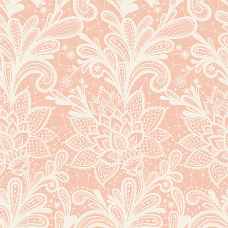 Seamless lace floral pattern. Grunge background with lace ornament. Фото со стока - 48833162
