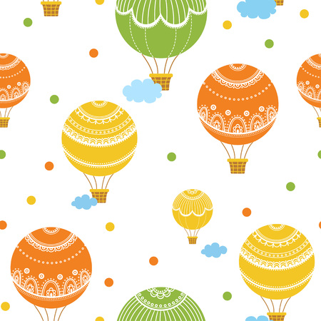 hot line: Background with hot air balloons. illustration of colorful hot air balloons.