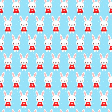 Seamless pattern in cartoon style. Illustration
