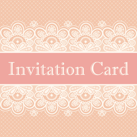 a place for the text: Invitation card. Lace background with a place for text. Illustration