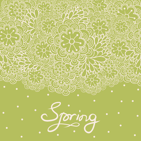 garden flowers: Spring background. Can be used for wedding invitation.