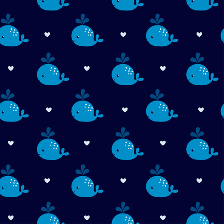 cachalot: Baby shower design. Seamless pattern can be used for wallpapers, pattern fills, web page backgrounds,surface textures. Illustration