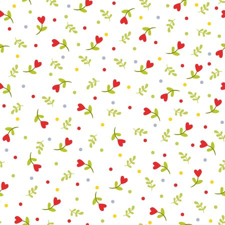 Flowers texture. Abstract seamless pattern with pretty flowers.