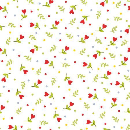 Texture de fleurs Modèle sans couture abstraite avec de jolies fleurs.