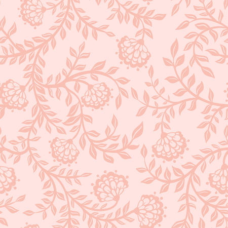 pink swirl: Vintage floral seamless pattern. Seamless texture with flowers. Endless floral pattern.