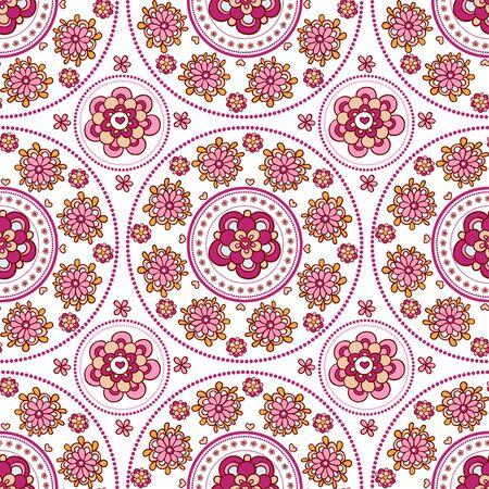 indische muster: Floral nahtlose Muster. Vintage-Einladung. Template-Rahmen-Design für die Karte.