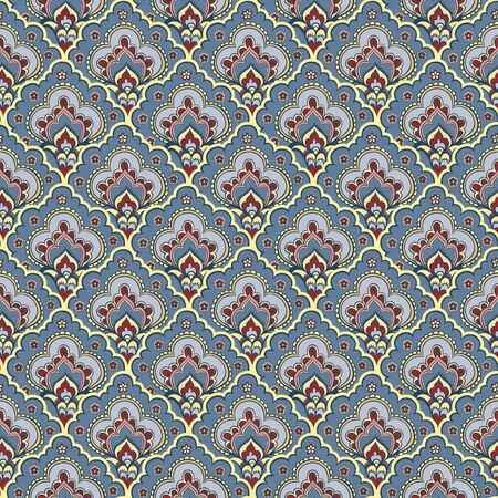 persian art: Seamless ethnic pattern. Vector illustration of seamless with colorful flowers. Illustration