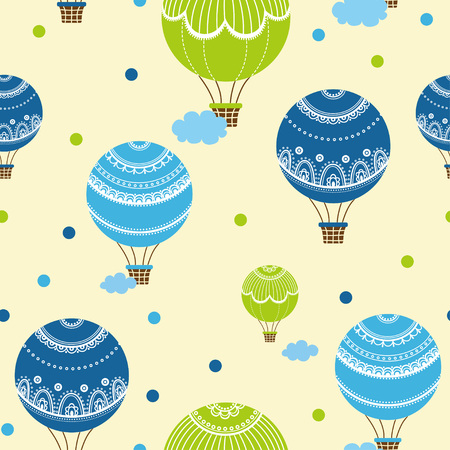 hot air balloons: Background with hot air balloons. Vector illustration of colorful hot air balloons.