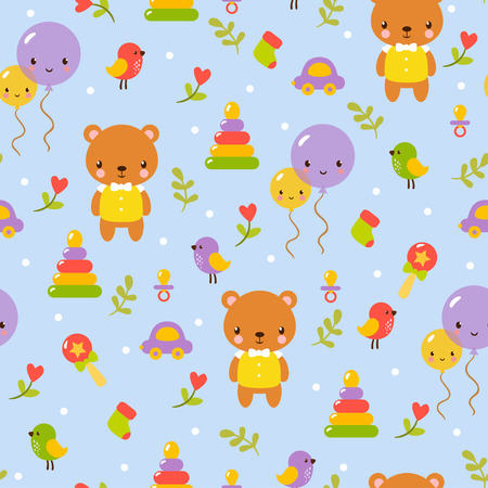 cartoon bear: Cute baby pattern design