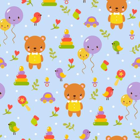 oso caricatura: patrón de diseño lindo bebé