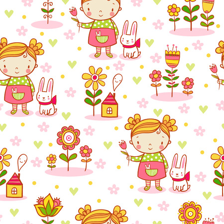 baby illustration: background in stylish colors can be used for wallpapers, surface textures, pattern fills. Illustration