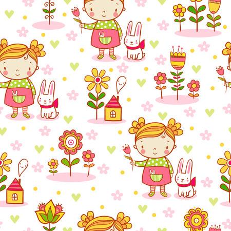 jardines con flores: fondo en colores elegantes se puede utilizar para fondos de pantalla, texturas de la superficie, patrones de relleno. Vectores