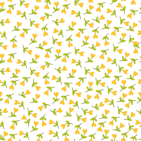 Seamless floral pattern. seamless illustration with flowers in a heart shape on a white background.