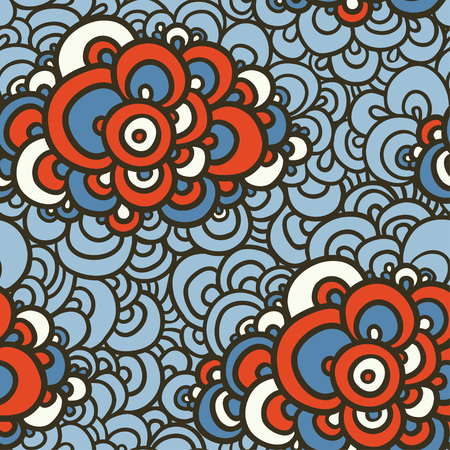 sea weeds: Collection of illustration with lacy clouds of different colors. Illustration