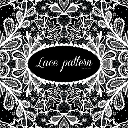 place for text: Lace background with a place for text.