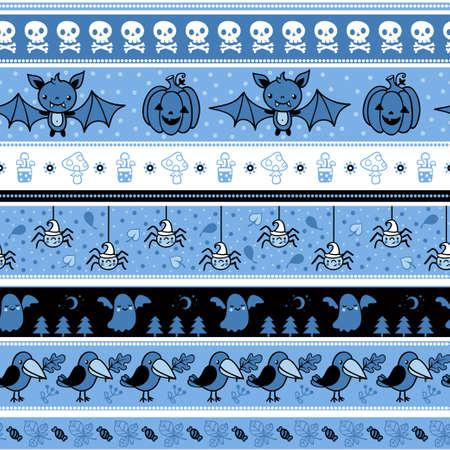 poltergeist: Halloween seamless pattern with ghost. Vector background illustration.