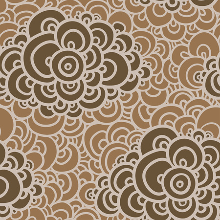 clots: Seamless abstract hand-drawn pattern, clouds background. Seamless background with clouds. Vector illustration.