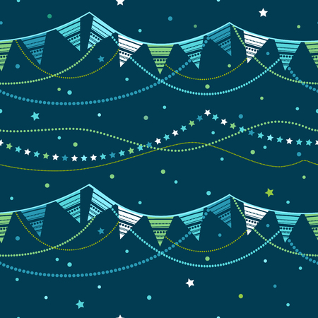 pennant bunting: Party pennant bunting. Party seamless background. Vector seamless illustration. Illustration