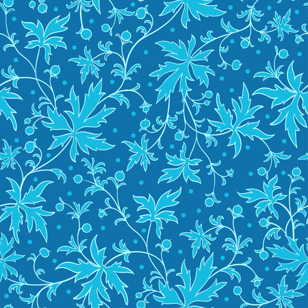 leafs: Seamless texture with leafs and berries. Gorgeous seamless floral background.