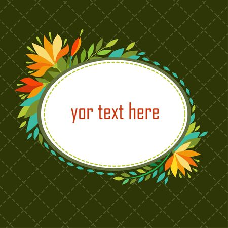 place for your text: Vector illustration with frame and place for your text.